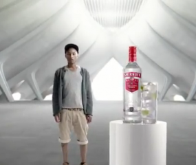 Pharrell Williams in Smirnoff commercial