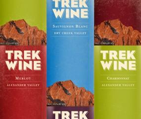 Mooie etiketten van Trek Wine
