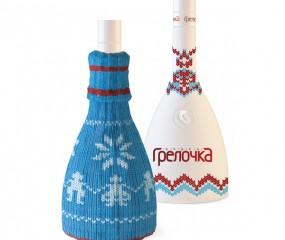 Russische vodka met een coltruitje aan