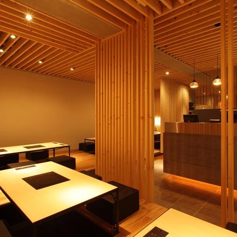 Het Knusse Interieur Van Restaurant Kurogane In Hiroshima