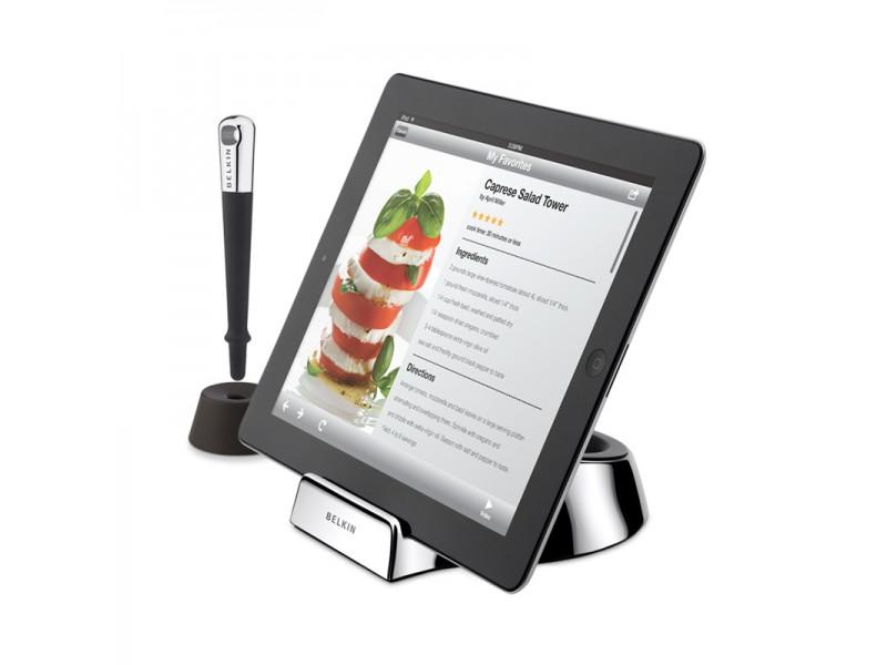 Coole ipad houder voor in de keuken for Keuken ontwerpen op ipad