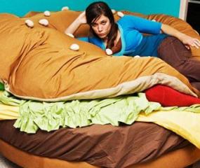Slapen in een hamburger