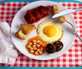 Een compleet Engels ontbijt, maar dan zoet