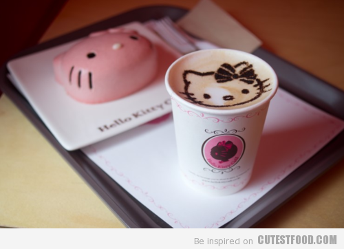 Hello Kitty Coffee Art
