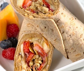 Peanut butter & jelly wrap