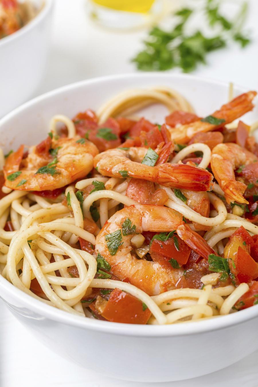 garnalen spaghetti