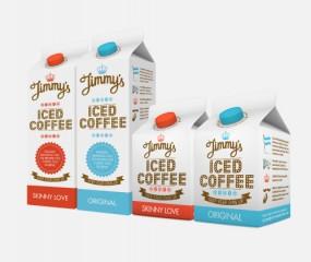 Jimmy's ijskoffie mét snorretjes