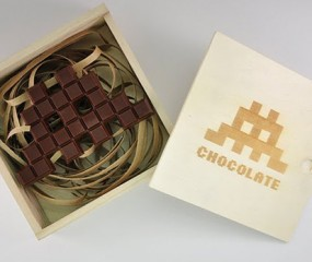 Space Invader in chocolade
