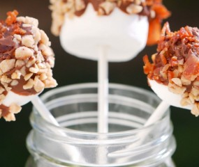 Chocolade marshmallows met toffee en bacon