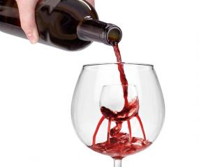 Fontein in je wijnglas