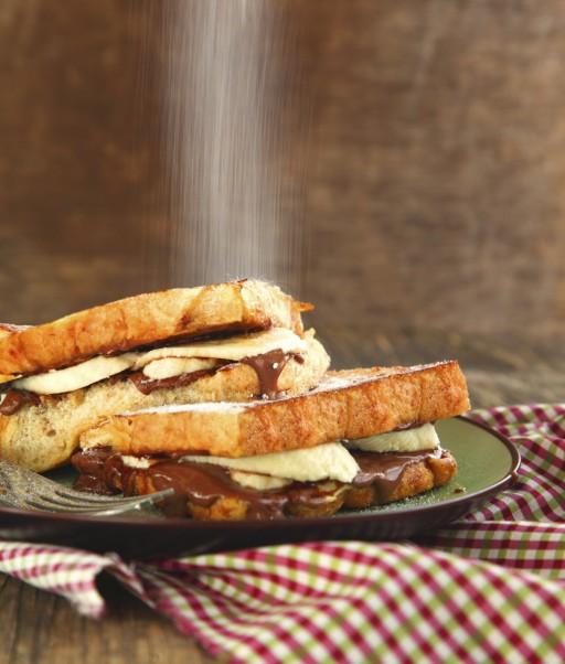 Voor de zoetekauw: een tosti met banaan en nutella