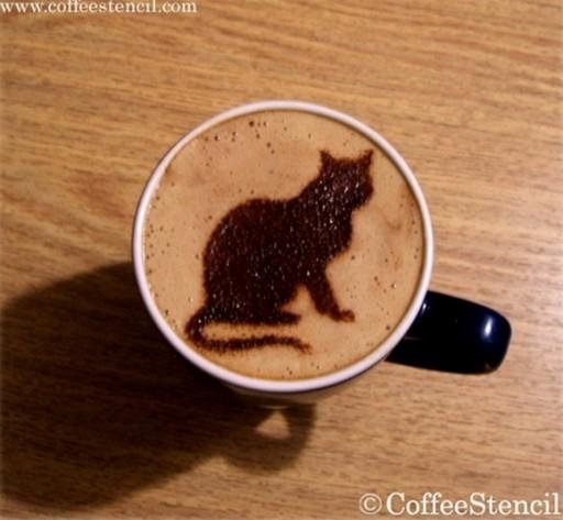 coffee-cat-1 (coffee cat 1 Cats in coffee art)