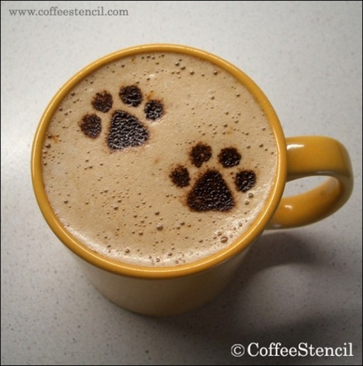 coffee-cat-3 (coffee cat 3 Cats in coffee art)