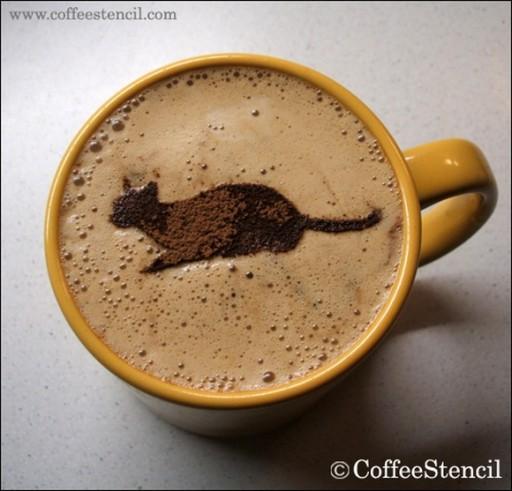 coffee-cat-4 (coffee cat 4 Cats in coffee art)