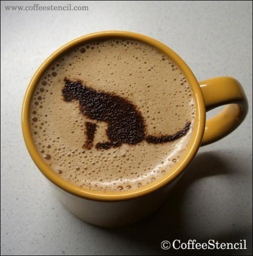 coffee-cat-5 (coffee cat 5 Cats in coffee art)