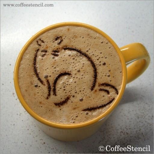 coffee-cat-7 (coffee cat 7 Cats in coffee art)