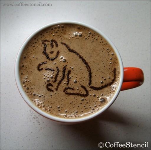 coffee-cat- (coffee cat  Cats in coffee art)