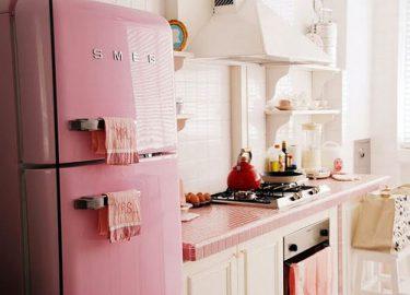 Uptown Witte Keuken : Roze koelkasten culy.nl