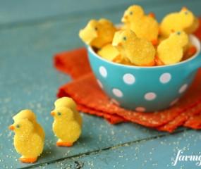 Marshmallow kuikentjes voor Pasen
