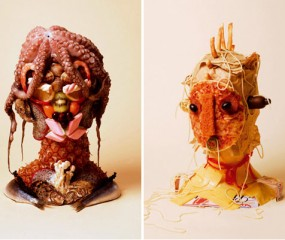 Food sculptures van Sarah Illenberger