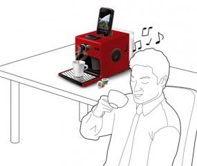 Espressomachine met muziek