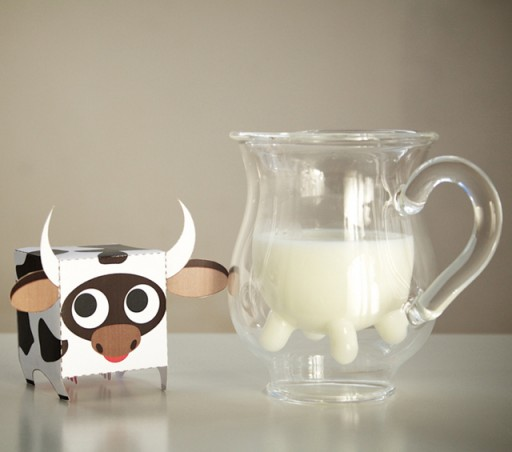 cow udders milk pitcher