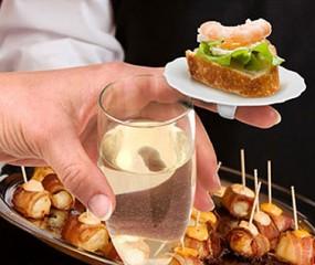 Fingerfood bordjes op een ring