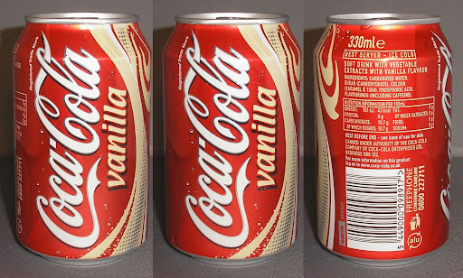 2005 Coca-Cola Vanilla Updated Nutritional Info