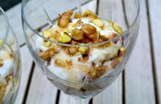 Griekse yoghurt met noten en honing