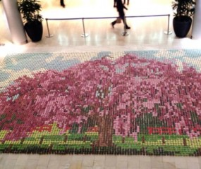 Een mozaïek van 10.000 cupcakes