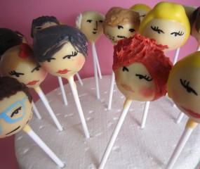 Cakepops in de vorm van celebrity's