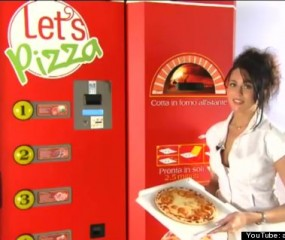 's Werelds eerste pizza automaat