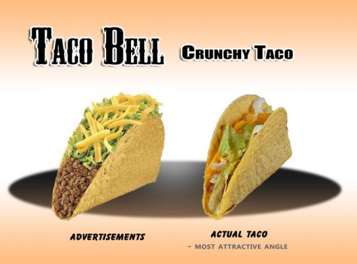 01 Taco Bell - Taco 1 (taco bell, taco, crunchy, fast, food, advertising, hell)