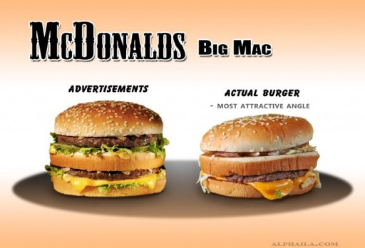 03 McDonalds - BigMac 1 (fast, food, advertising, mc donalds, big mac, false, tiny, comparison, ads, vs, reality, burger, hamburger, studio)