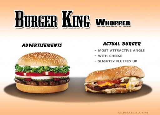 07 Burger King - Whopper_B1 (fast, food, advertising, burger king, whopper, false, tiny, comparison, ads, vs, reality)