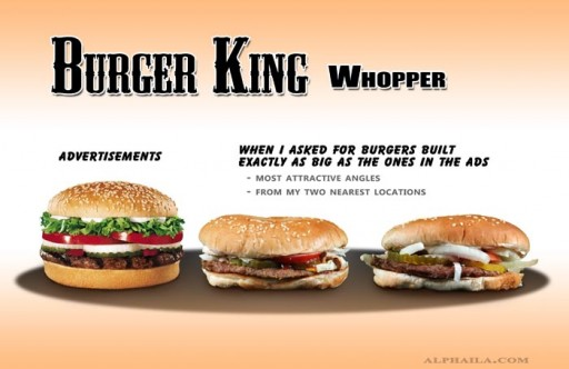 09 Burger King - Whopper Ad-Size1 (fast, food, false advertising, burger king, whopper, big, tiny, comparison, ads, vs, reality, burger, studio, test)