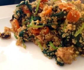 Healthy quinoa roerbak