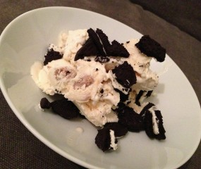 Culy Homemade: cookie dough roomijs met Oreo chunks