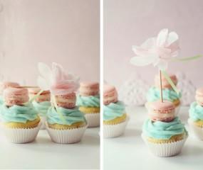 Macarons als topping op je cupcake