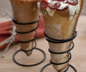 Doe het zelf: pizza in een ijshoorntje