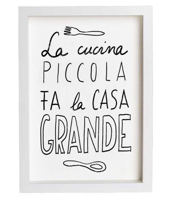 Culy italia italiaanse illustraties voor aan de muur - La piccola cucina milano ...