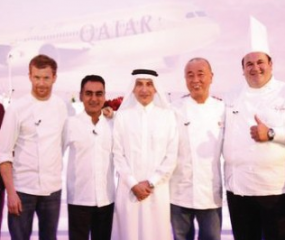 Eten op sterrenniveau in de lucht met Qatar Airways