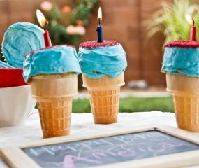 Te cute: cupcakes in een ijshoorntje