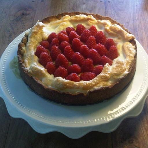 Citroen Frambozen taart van Gala