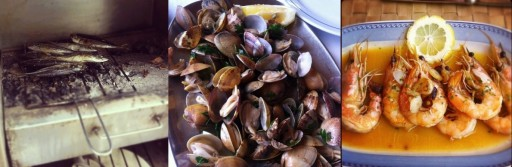 Sardientjes, ameijos, garnalen Algarve