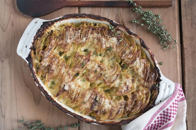 stock aardappel gratin
