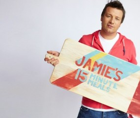 Behind the scenes video van Jamie Oliver's 15 Minute Meals