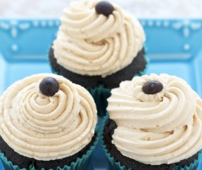 Mokkacupcakes met espresso frosting