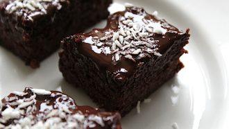 Afbeelding van gezonde glutenvrije brownies