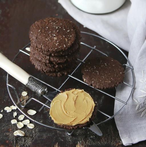 Stock koekjes pindakaas